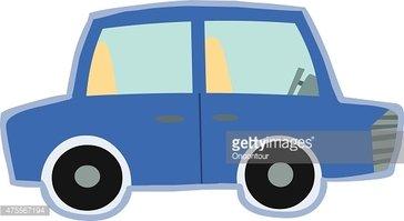 Cute Blue Car Toy Vector stock vectors.