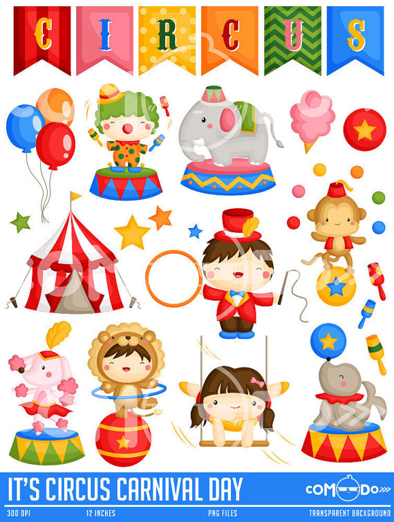 Circus Carnival Day Clipart.