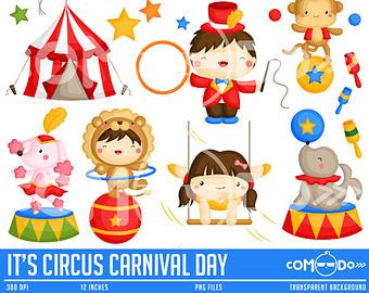 Cute circus clipart.