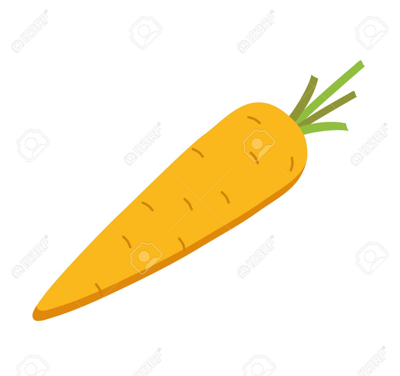 Carrot illustration. Cute carrot flat style vector. Carrot isolated...