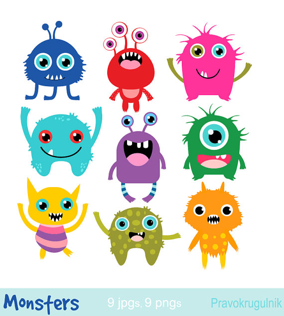 Little monsters clipart, Birthday party monsters, Monsters.
