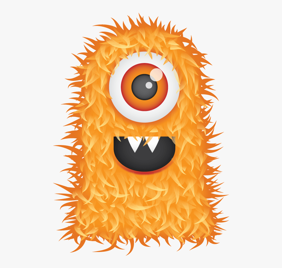 Cute Hairy Monster , Transparent Cartoon, Free Cliparts.
