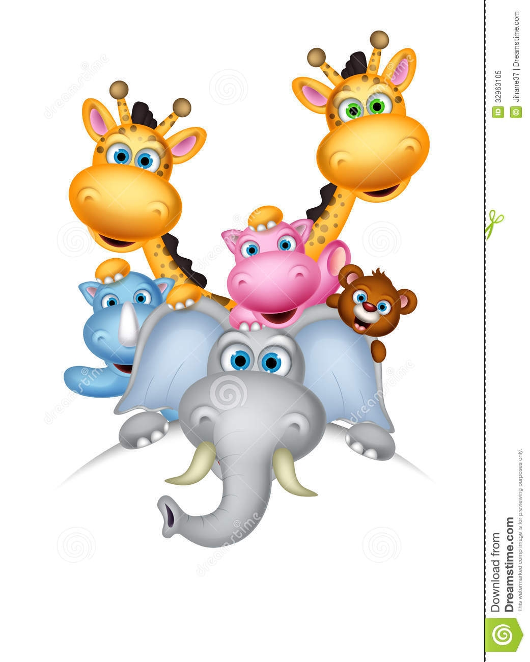 Cute Cartoon Wild Animal Clipart.