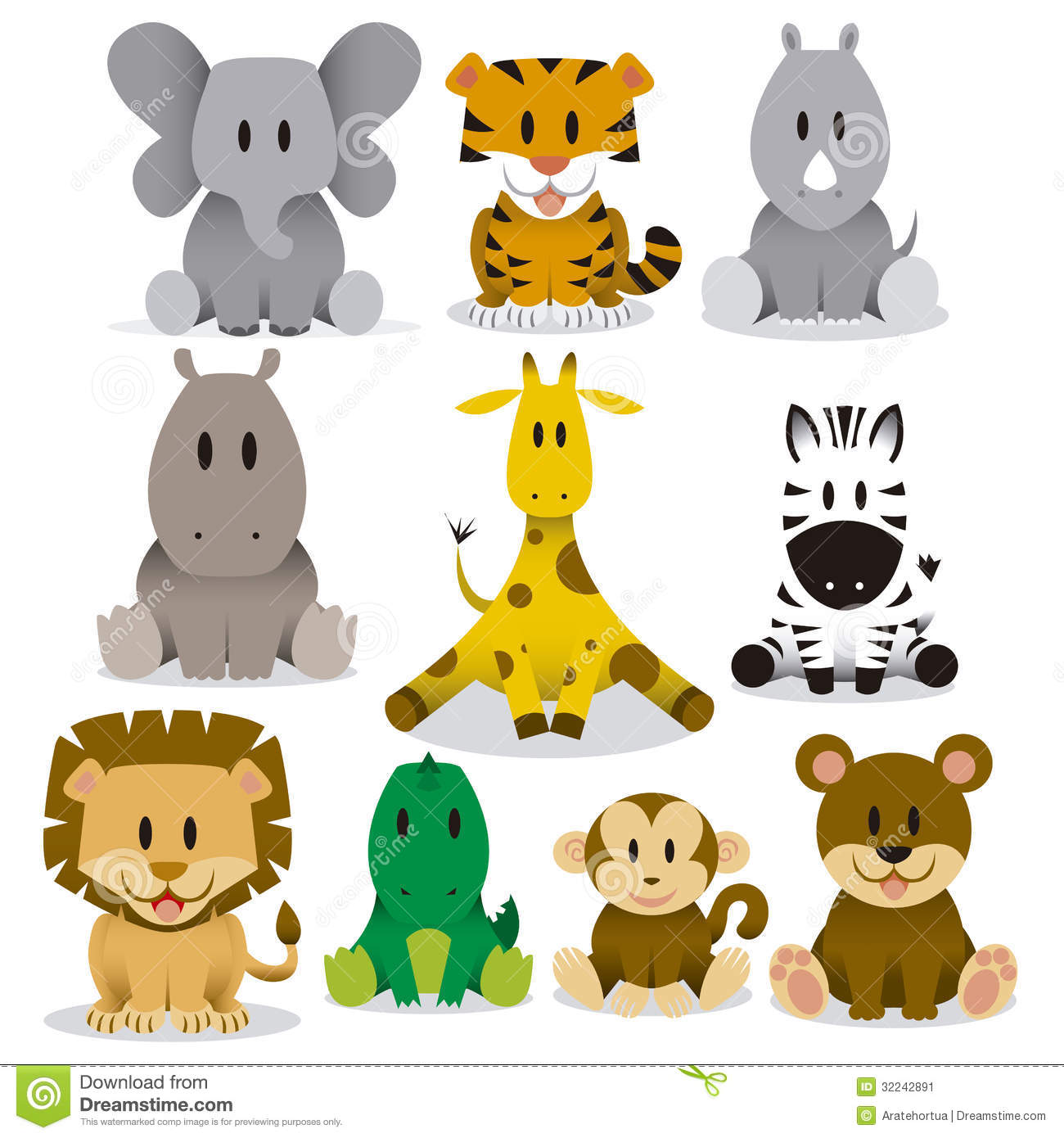 cute cartoon wild animal clipart 20 free Cliparts ...