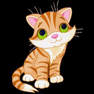 Cute cat cartoon clipart.