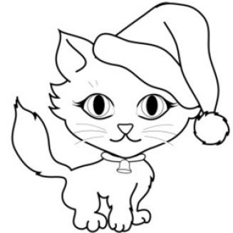 Cute cat clipart black and white » Clipart Portal.