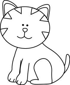 Kitten Clipart Black And White.