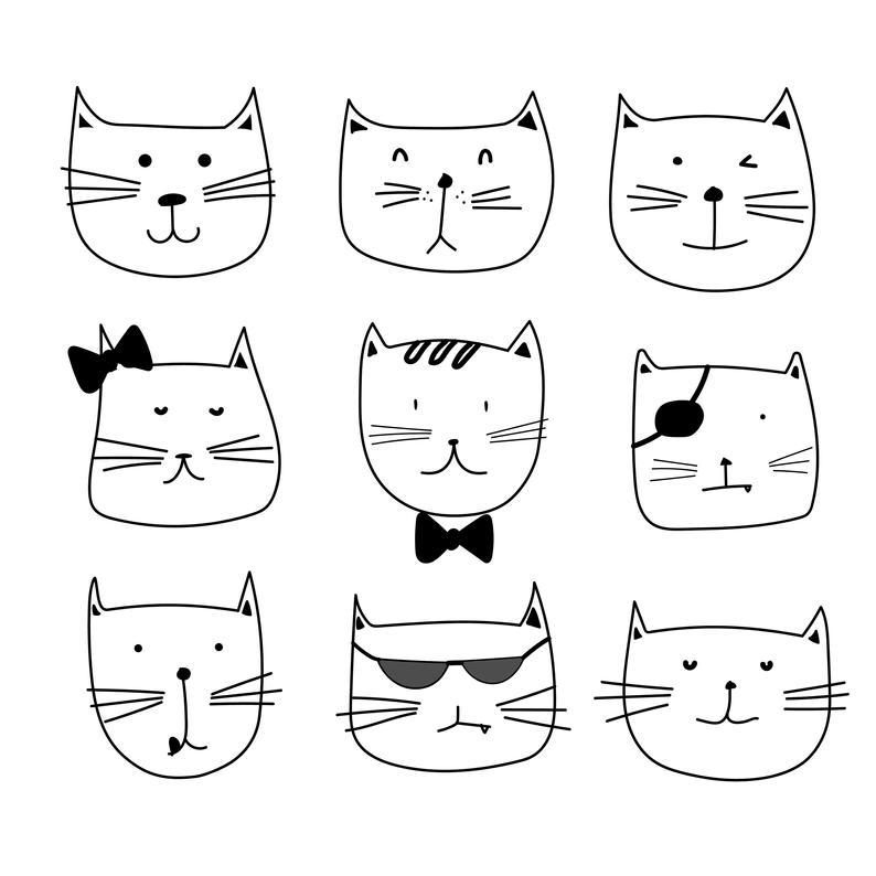 Cute Cat Clipart, Cute Animal Clipart, Cat Clipart, Kitten Clipart,  Clipart, Vector Files, Digital Download Clipart.