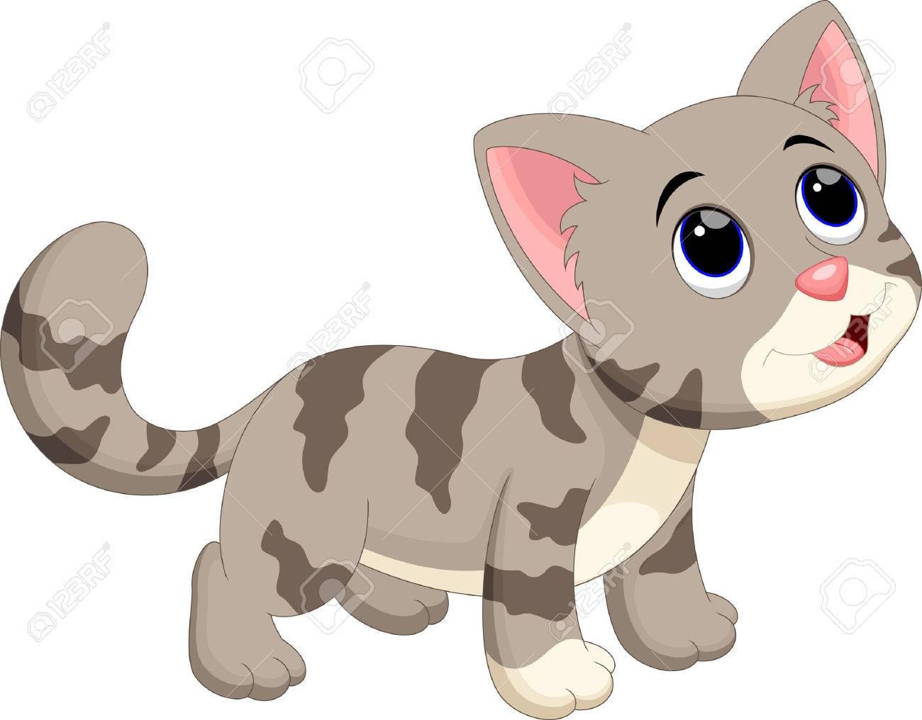 Cute cat cartoon.