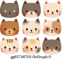 Cute Cat Clip Art.