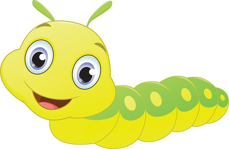 Cute Caterpillar Cartoon premium clipart.