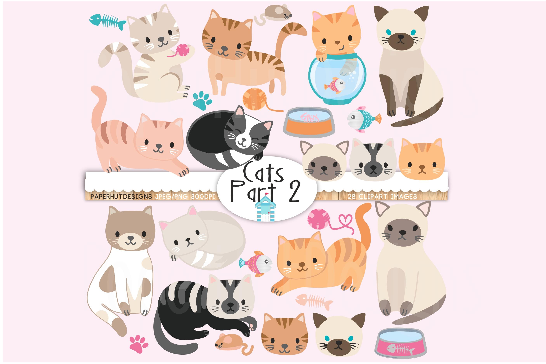 Cute Cats Clipart Part 2.