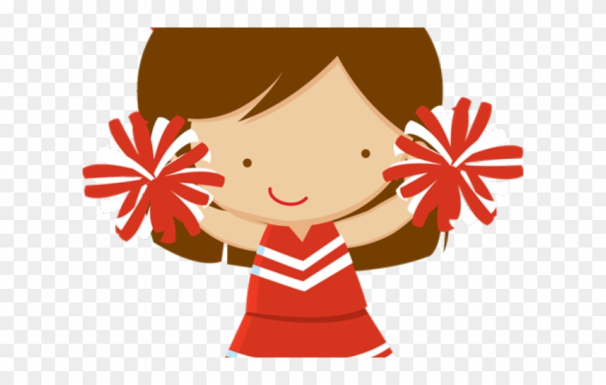 Cute Cheerleader Clipart Red.