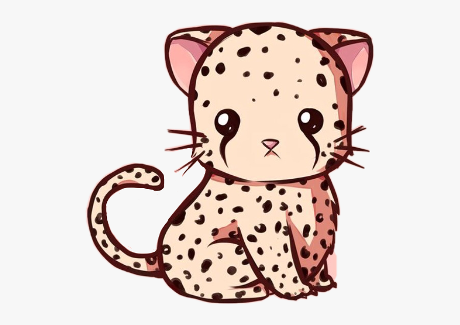 Cute Leopardo Cheetah Kawaii Animal Wild Fast Freetoedi.