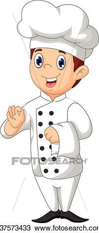 Cute chef cartoon Clipart.