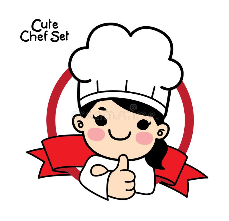 Cute Chef Stock Illustrations.