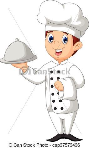 cute chef cartoon.