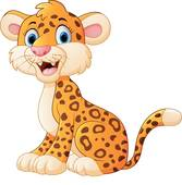 Cute Cheetah Clip Art.