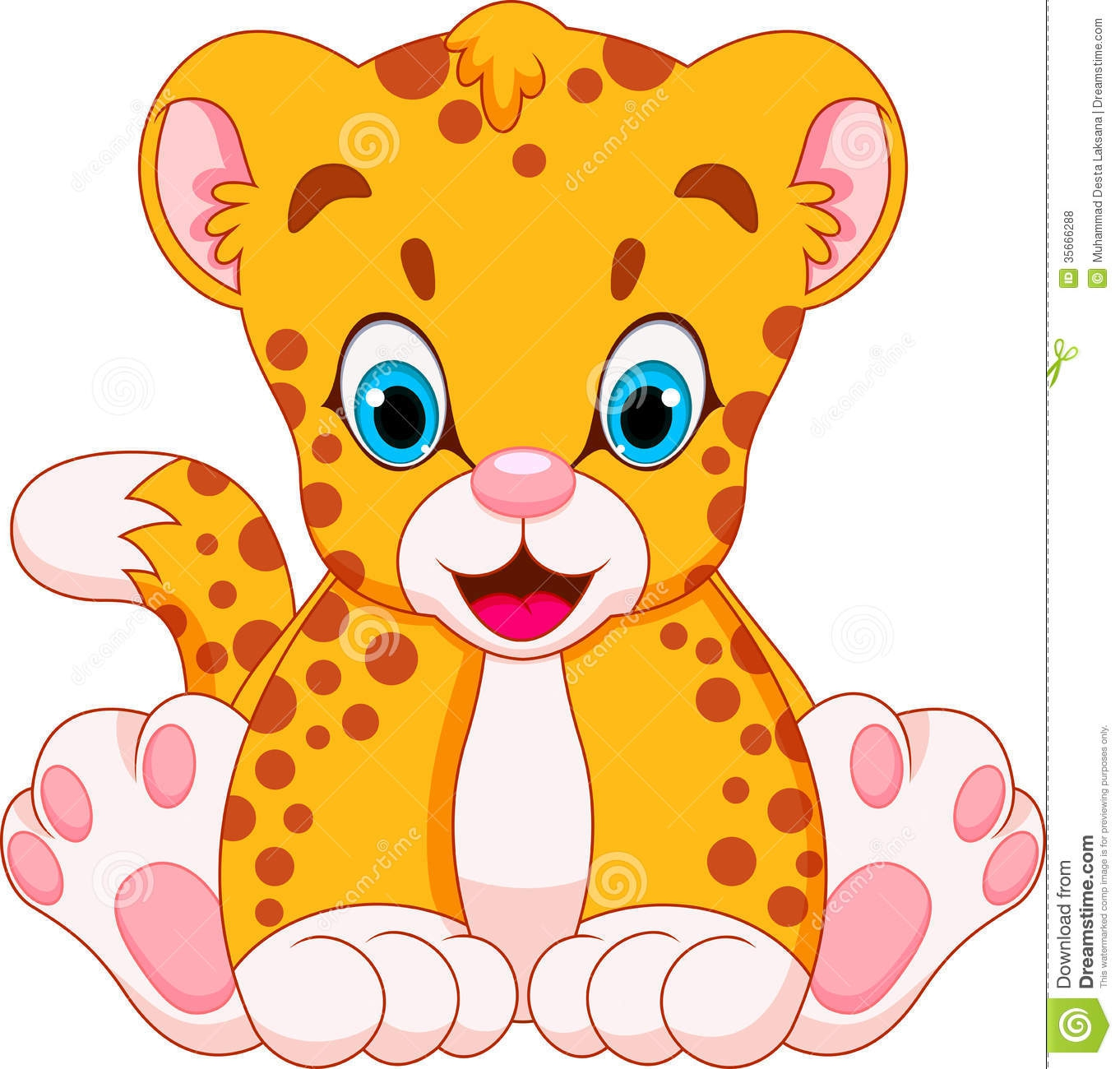 Cute Cheetah Clipart#2123518.