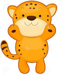 Cute cheetah clipart.