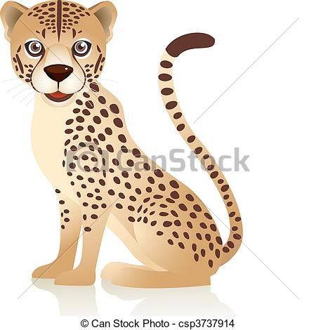 Cute cheetah Clipart Vector Graphics. 877 Cute cheetah EPS clip.