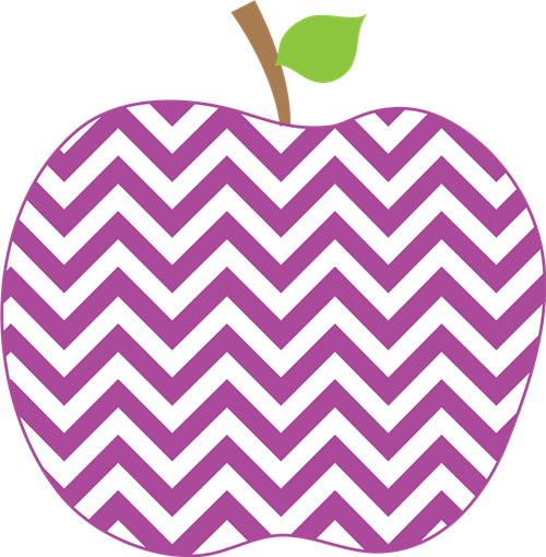 Cute Chevron Apple Clipart.