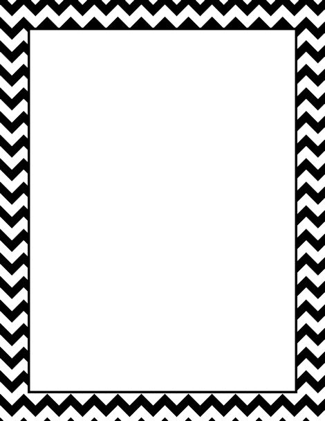 Cute Clipart Borders Chevron Black.