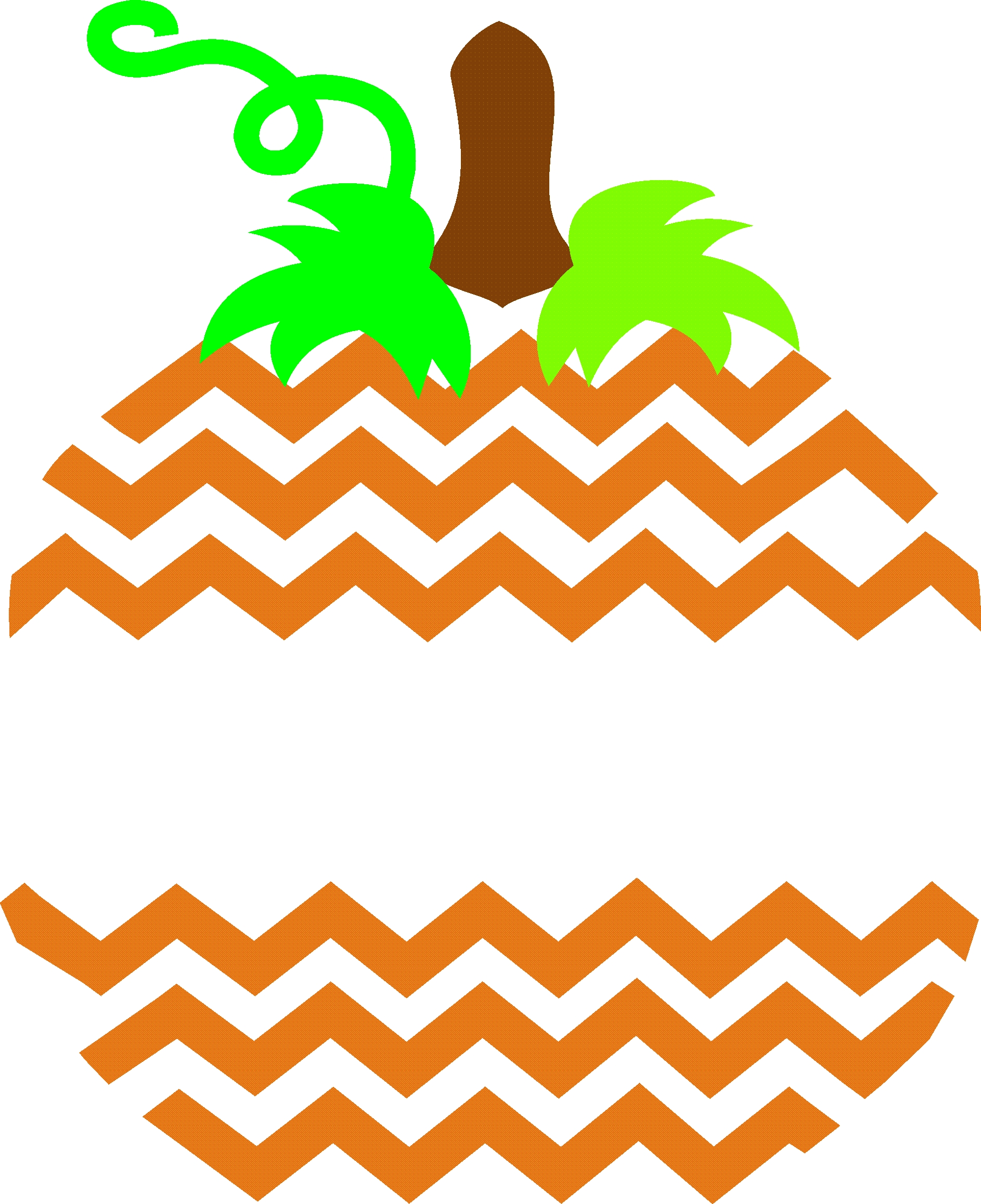 Orange Chevron Clipart.