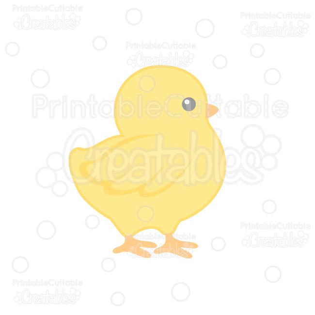 Cute Chick SVG Cut File & Clipart for Silhouette Cameo, Cricut Explore.