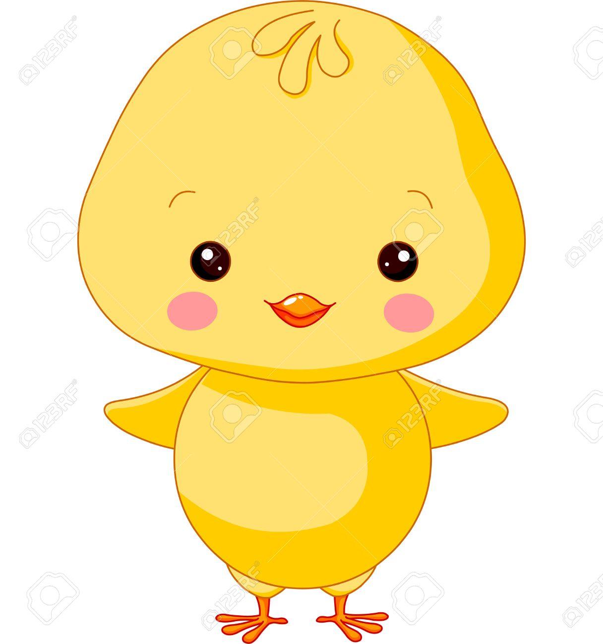 Farm animals. Illustration of cute Chick.