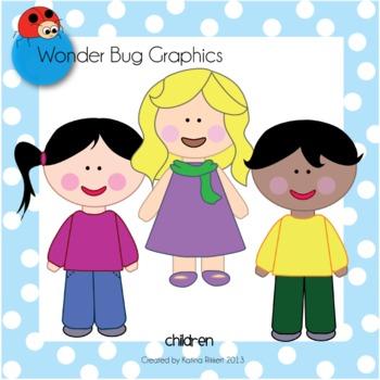 Cute Children Clipart.