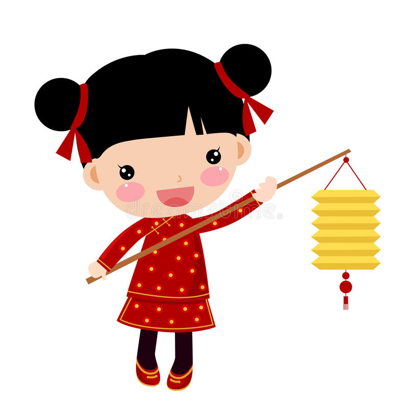 Chinese New Year Girl Clipart.