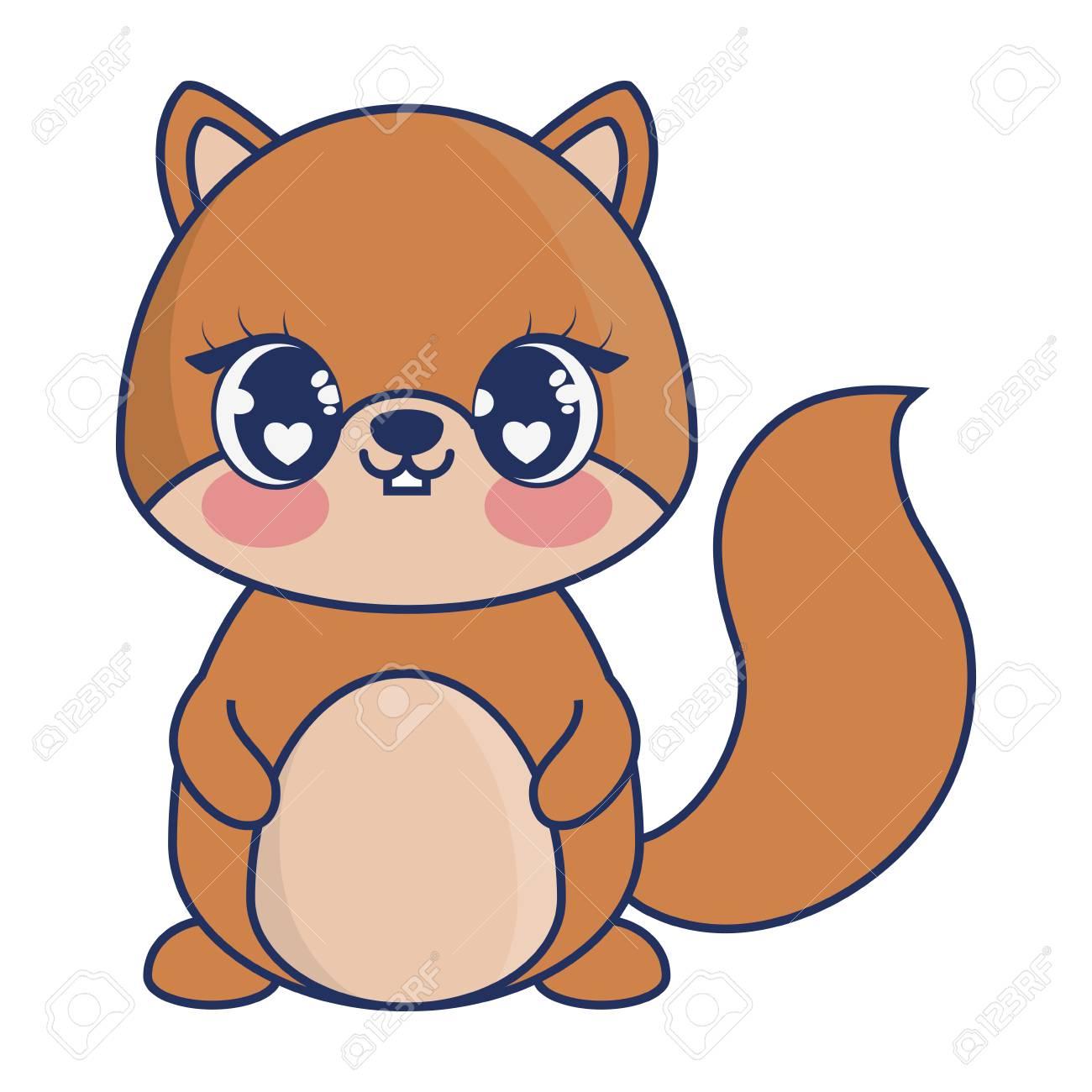 cute chipmunk adorable character vector illustration design.