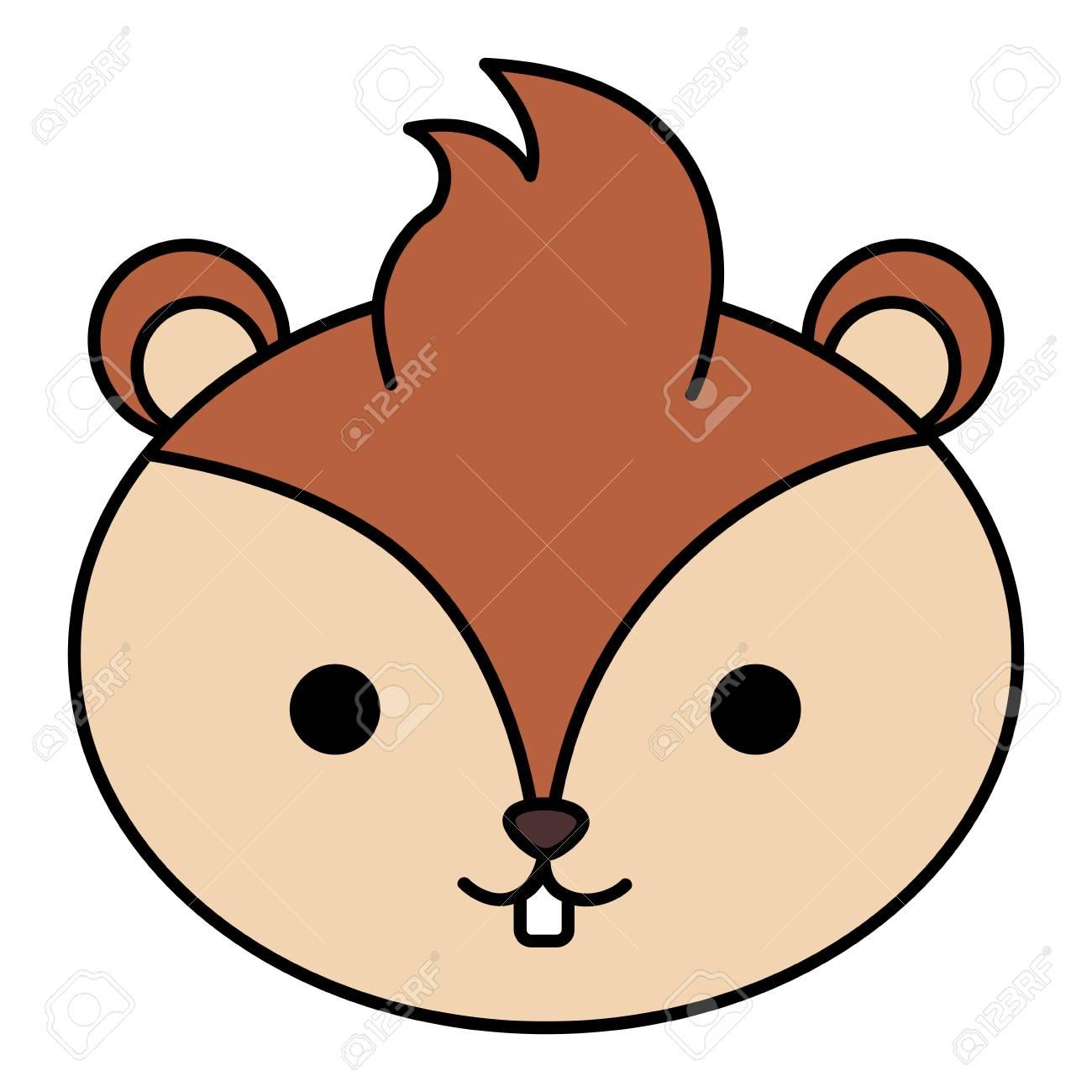 cute and tender chipmunk head vector illustration design.
