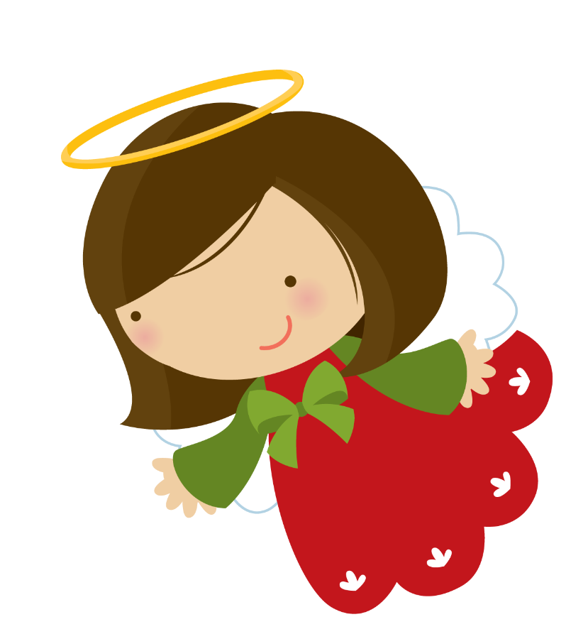 799 Christmas Angel free clipart.
