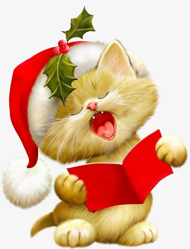 Cute Animals PNG, Clipart, Animals Clipart, Christmas, Cute.