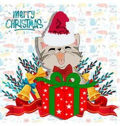 Christmas Cat Clipart Vector Images (59).