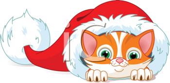 The Clip Art Guide Blog: 3 Cute Christmas Cat Clipart.