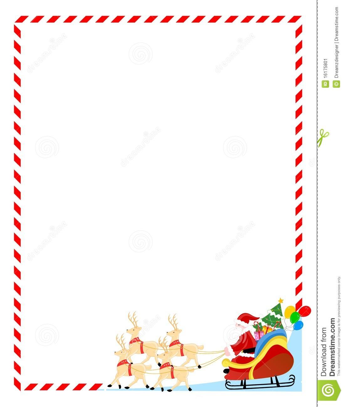 Cute Christmas Clipart Border.