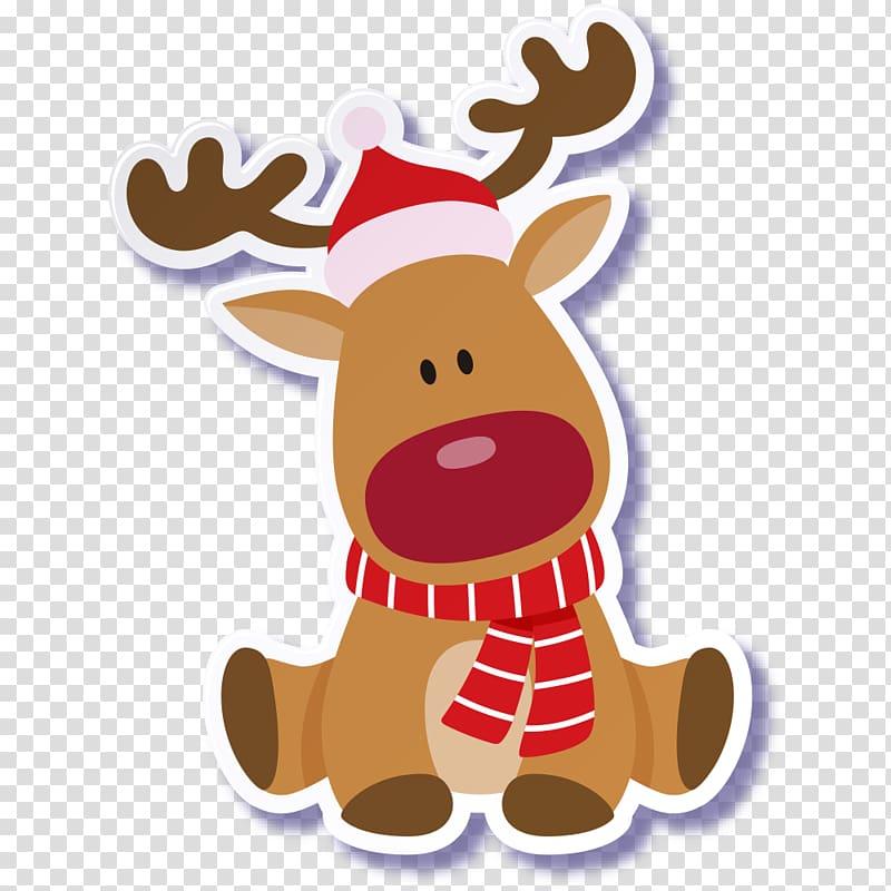 Rudolph Reindeer Santa Claus Christmas, Cute Christmas dog.