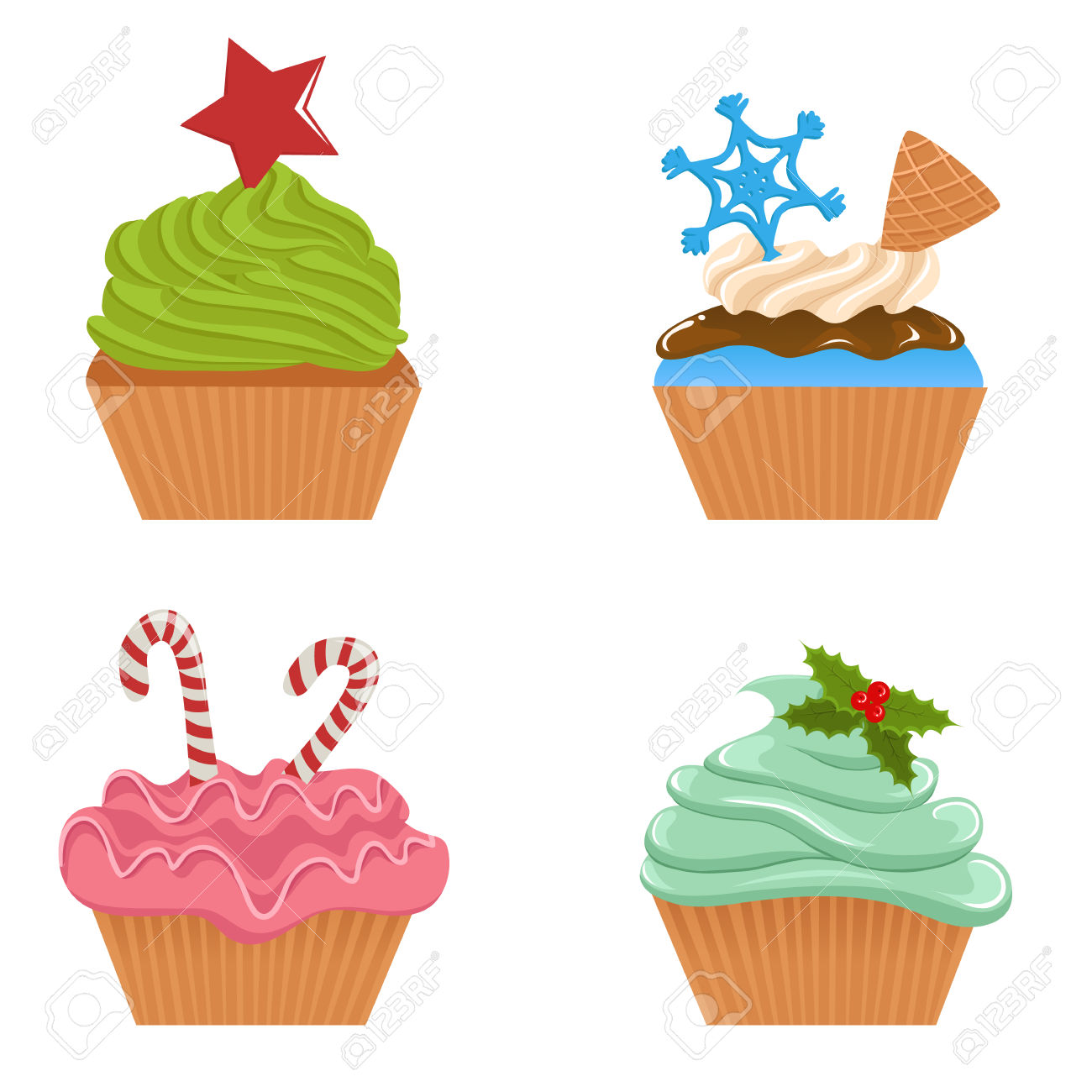 cute holiday cupcake clipart 20 free cliparts download