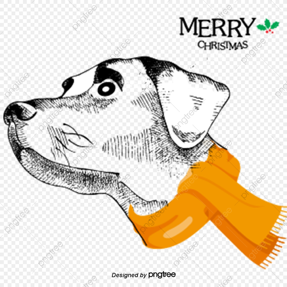 Cute Dog Christmas, Dog Clipart, Decoration, Vector PNG and Vector.
