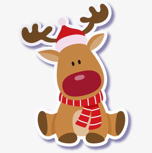 Cute Christmas dog PNG et Clipart.