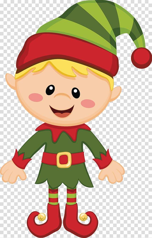 2730 Christmas Elf free clipart.