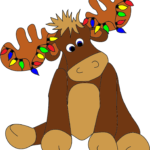 Free Cute Moose Drawing Image.