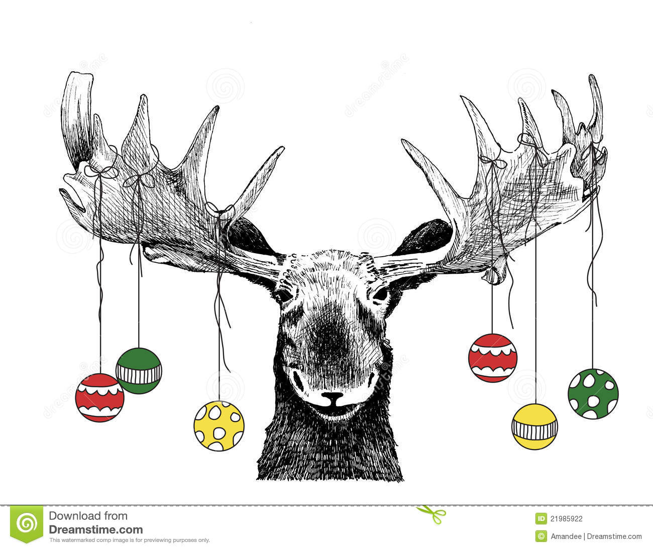 Moose Stock Illustrations.