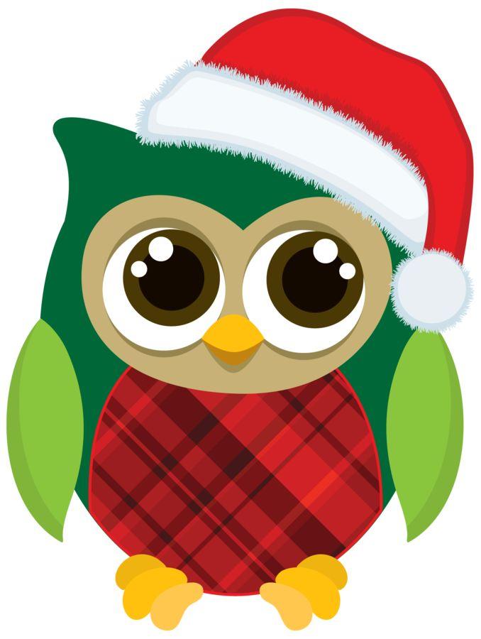 Merry Christmas Owl Clipart.