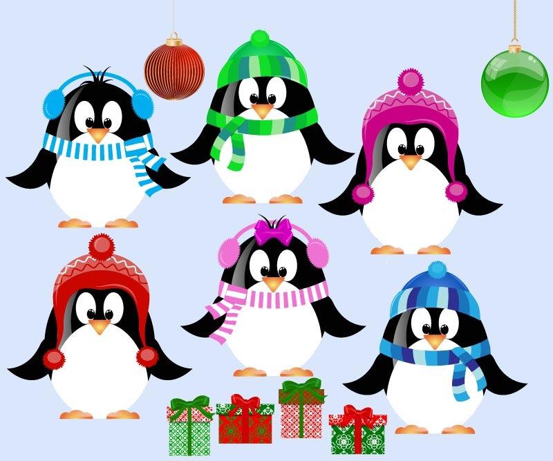 Cute Christmas Penguin Clipart#2101988.
