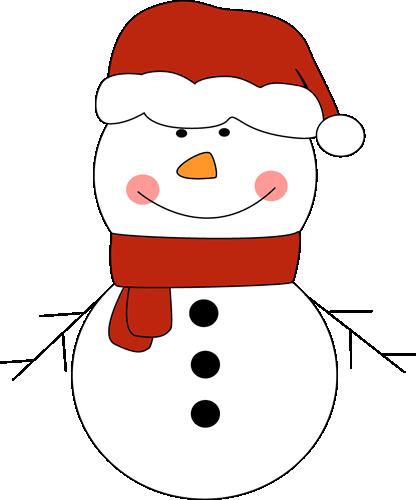 Cute Snowman Clipart.