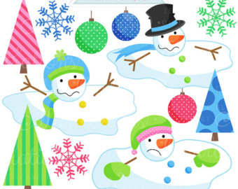 cute christmas snowman clipart free #3